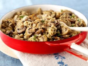 Ριζότο με κινόα και μανιτάρια